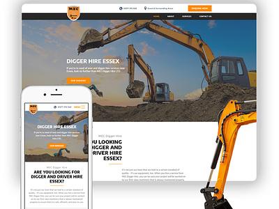 MEC Digger Hire marketing agency branding design logo design concept seo website design website