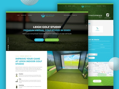 Leigh Golf Studio (NEW WEBSITE) golf coach golf graphic design branding seo essex web design design