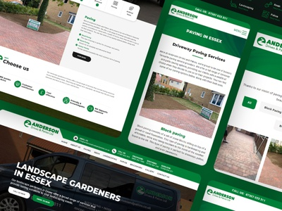Anderson Drives and Patios web google marketing photoshop websites branding website essex web design design