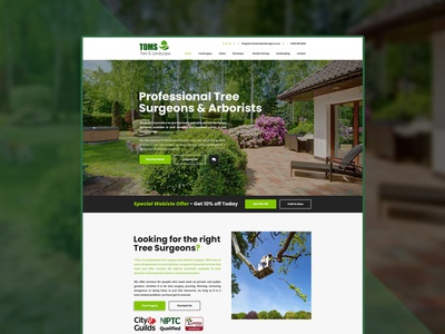 Toms Tree and Landscapes Home Page