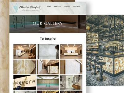 master products website design essex backlit features