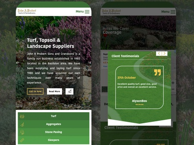 John A Probert New Website marketing turf suppliers seo website design