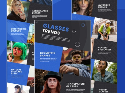 Glasses Trends in 2020 opticians marketing seo information design essex infographic