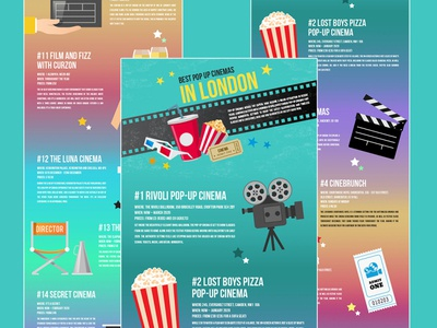 Silent Cinema infographic elements infographic design graphicdesign infographic pop up cinema london silentcinema