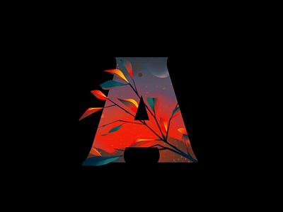 Letter A: Apoy canvas html5 gsap animation