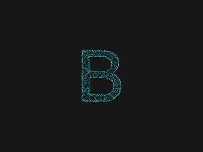 B Force threejs particles letters motion