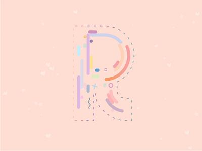 R-ainbow Pastel animation motion letters svg drawsvg rainbow