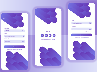 Sign in/Sign up UI mobile app signup screen figma ui mobile design login design login screen