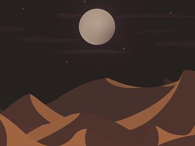 midnight desert moon midnight moon desert illustrator illustration