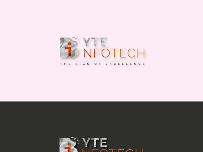 ByteIfotech-ReDesign mask graphic brand bit byte website flat typography branding logo illustration design