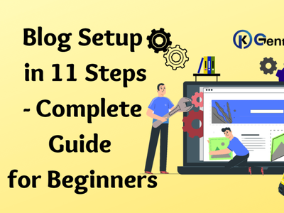 Free Blog Setup in 11 Steps| Complete Guide for Beginners web design logo branding