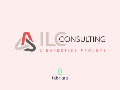 ILC Consulting project website illustration web logo branding design