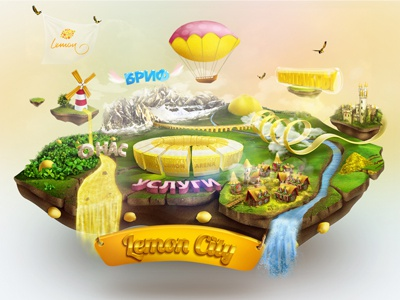 LemonCity island lemon world play river event castle yellow