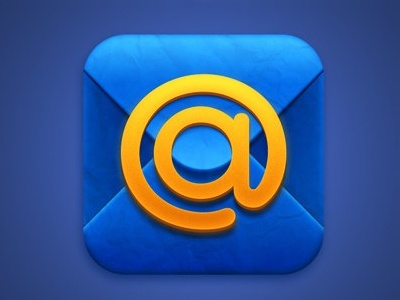 Icon for mail.ru app blue mail icon