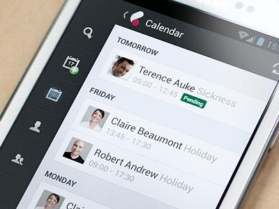Cezanne Android app minimal list cezanne icons interface ui navigation android mobile app menu sidebar