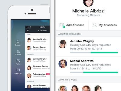 iOS 7 explorations dashboard mobile ios7 menu ui iphone app cezanne ios clean minimal