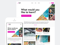 FutureLearn landing page