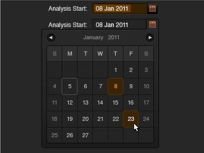 Date picker state dark interaction calendar date picker