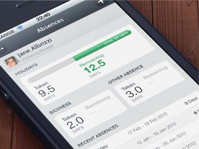 HR app - Absences