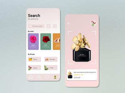 perfume store minimal iphone brand design branding design figmadesign userinterface ui design icon appstore ui uiux perfume