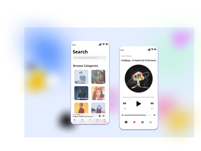 Apple music figmadesign brand design userinterface iphone coldplay music player design uiux ui musicapp library app apple songs library applemusic music