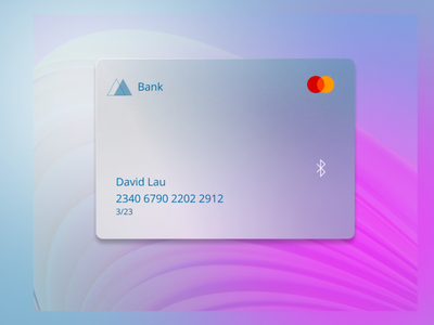 Glass morphism credit card iphone ui branding logo illustration figmadesign brand design userinterface design