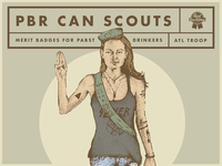 PBR Can Scout poster