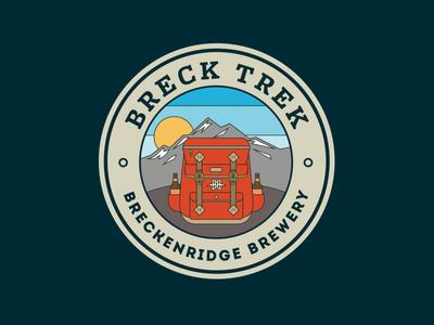 Breck Trek logo illustration logo brewery breckenridge brewery