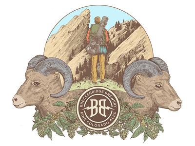 Breckenridge Brewery Illustration  colorado beer illustration