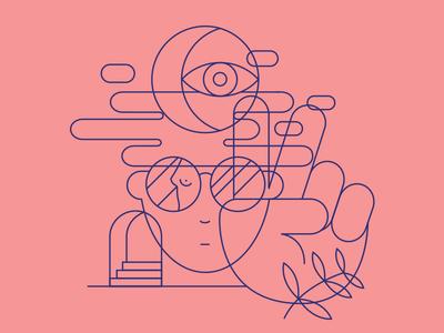 doodles trippy hippy clean illustration