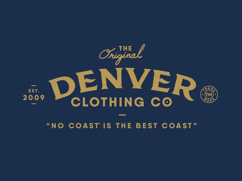 Denver Clothing Co. Branding denver logo branding