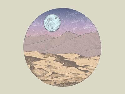 The Great Sand Dunes colorado illustration sand dunes