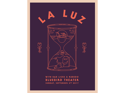 La Luz Poster illustration la luz gig poster