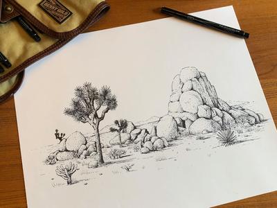 Joshua Tree National Park illustration joshua tree national park