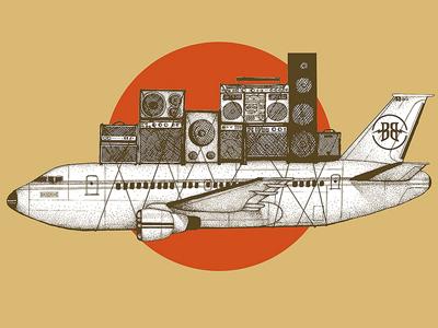 Airplane dribbble2