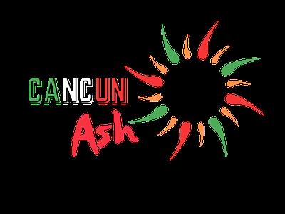 Cancun Ash Experience Mexico Travel Website web design logo