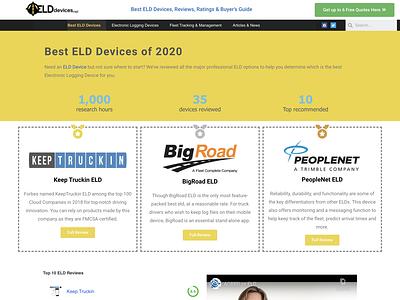 Web Design: E-log Review Website seo webdesign branding web logo design