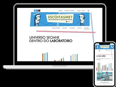 ESCOITASME museum typography wordpress webdesign marketing elementor website branding web design