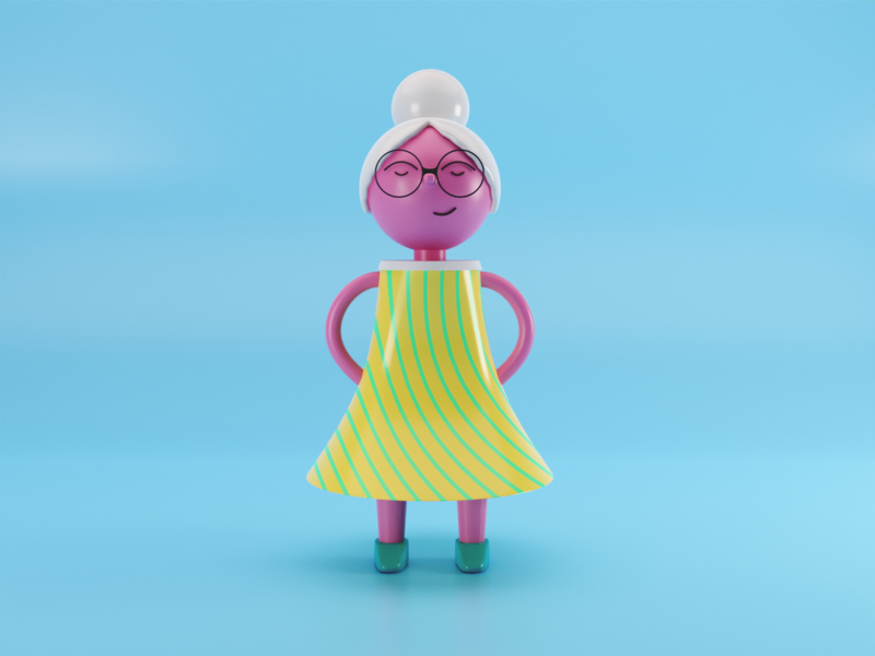 Granny model 3d 3dcharacter illustration after effects character blender3d blender