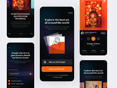 Gallery Mobile App – UI Case app clean mobile-ui user-interface design sketch ux ui