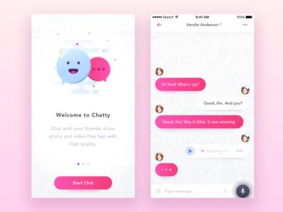 Chat UI - 2 part