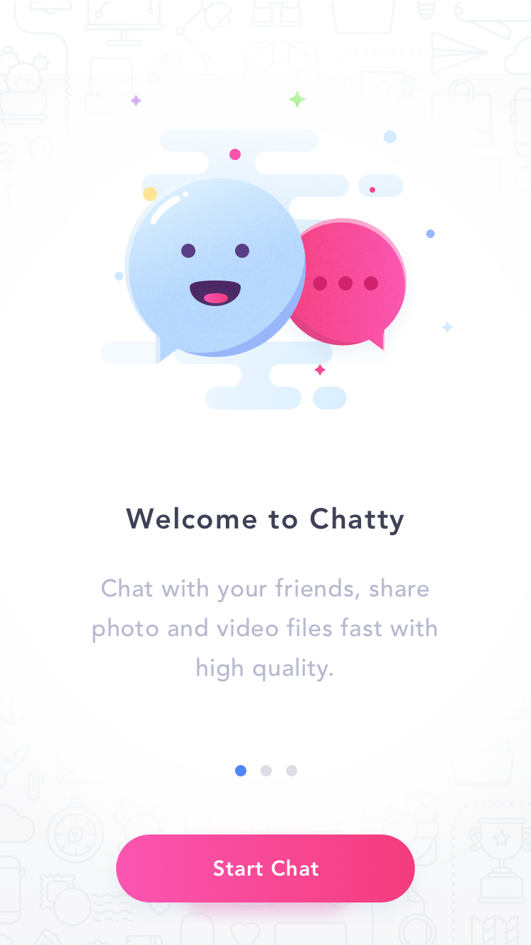 Chat welcome screen
