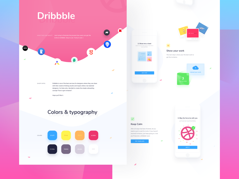 Dribbble Invite Tutorial Case