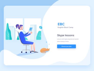 EBC - Tutors Web Site Banner website web ux user experience ui teachable ebc landing  page flat design clean app