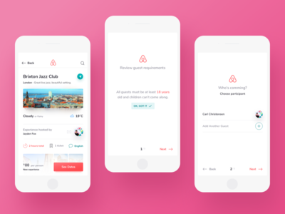 Airbnb Event Confirmation travel event ios ux ui mobile rent apartment booking airbnb