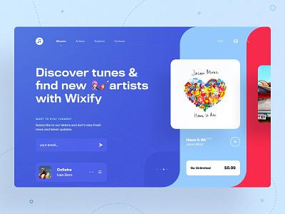 🤔 Web Music App Concept sketch music icons design typography ux ui music app ui art web app