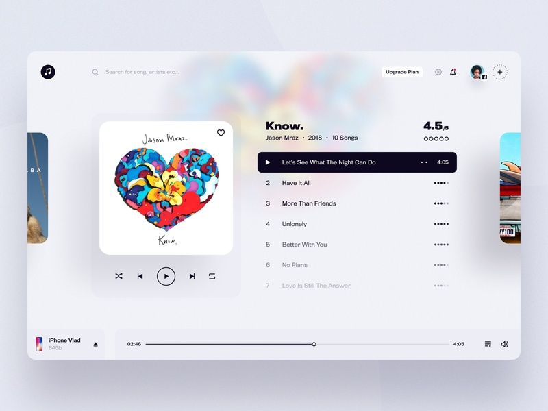 Web Music App - Player clean music app music player music web ux user-interface design sketch material-design ui