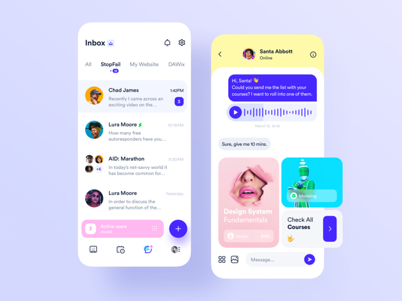 Chat Social App icons feed ux ui mobile ios design consultation circle app chat