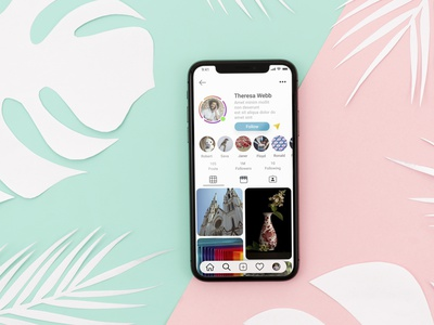 Instagram redesign profile section