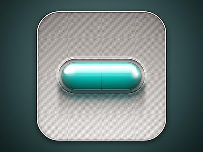 iOS App Icon pill ios app icon teal medicine